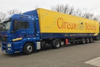 Das neue Zirkuszelt