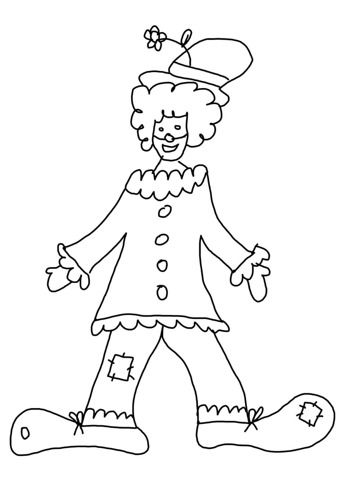 malvorlagen zirkus clown - kostenlos zum ausdrucken
