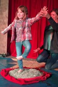 Zirkusprojekt im Kindergarten Traiing der Fakire