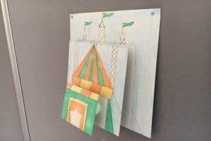 Zirkuszelt als drei dimensionales Wandbild