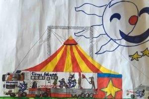 Kinderzeichnung vom Circus Soluna