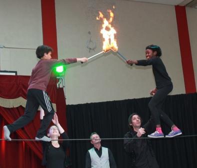 Seillaufen im Zirkusprojekt